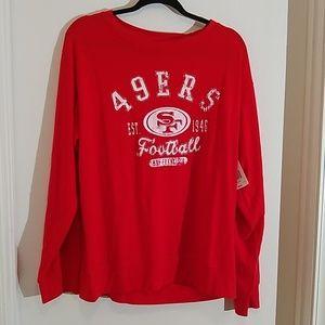 San Francisco 49's football red sweatshirt